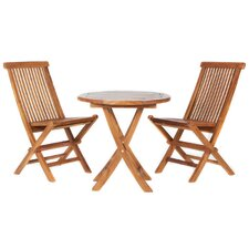 Pleasanton 3 Piece Bistro Set