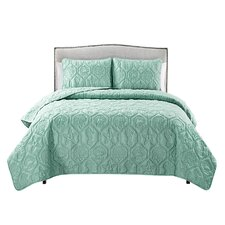 Sneads 3 Piece Blue Quilt Set