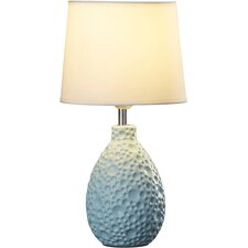 "Tierra Verde Oval Ceramic 14.17"" H Table Lamp with Empire Shade"