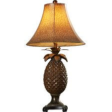 """Bodega Pineapple 31"""" H Table Lamp with Bell Shade"""