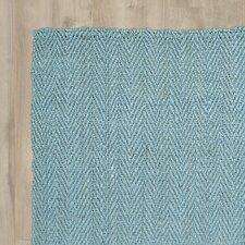 Pompano Beach Hand-Loomed Teal Area Rug