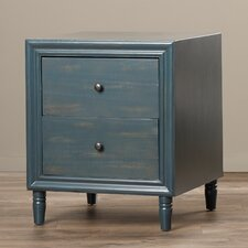 Plainville 2 Drawer Nightstand