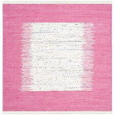 Sparks Hand-Woven Ivory/Pink Area Rug