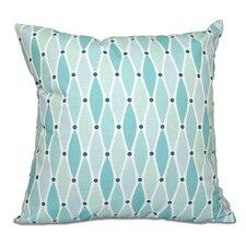 Surrey Wavy Geometric Print Outdoor Throw Pillow