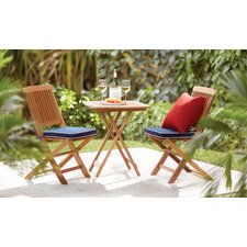 Sunny Isles 3 Piece Bistro Set with Cushion
