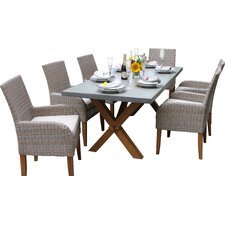 Boca Raton 7 Piece Dining Set with Cushions