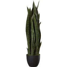 Nearly Natural Faux Sansevieria Floor Plant in Pot