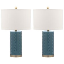 "Landon 26"" H Table Lamp with Drum Shade (Set of 2)"