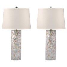 "Davenport Cylinder 28"" H Table Lamp (Set of 2)"