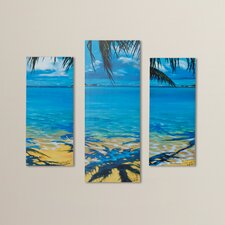 Palm Tree Shadows 3 Piece Photographic Print Set