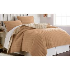 Pitcairn 3 Piece Solid Reversible Coverlet Set
