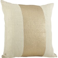 Laurel Banded Cotton Throw Pillow