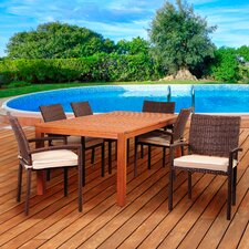 Elsmere 7 Piece Dining Set with Cushions
