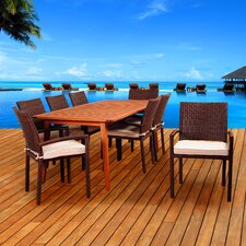 Elsmere 9 Piece Indoor/Outdoor Dining Set with Cushions