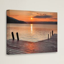 'Another Keuka Sunrise' by Steve Ainsworth Photographic Print on Wrapped Canvas