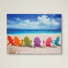 Peekskill Beach Chairs Photographic Print on Wrapped Canvas