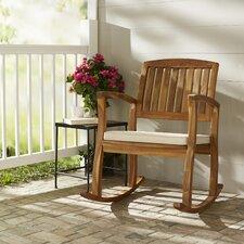 Arcadia Acacia Rocking Chair with Cushion