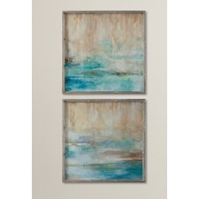 Through The Mist Abstract Art 2 Piece Framed Painting Print Set