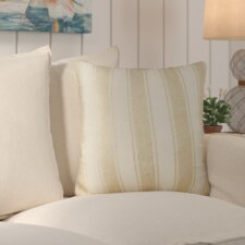 Laurel Striped Foil Cotton Throw Pillow