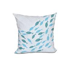 Golden Lakes Coastal Outdoor Throw Pillow