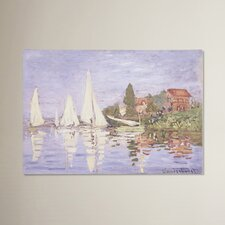 Chapelton at Argenteuil by Claude Monet Painting Print on Wrapped Canvas