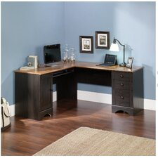 Pinellas Corner Computer Desk with Keyboard Tray