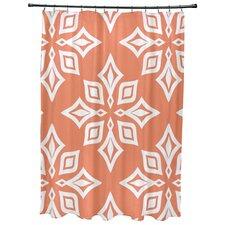 Rocio  Beach Star Geometric Print Shower Curtain