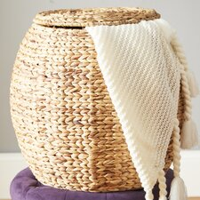 Hookton Wicker Storage Basket with Lid