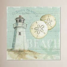 Beach House Painting Print on Wrapped Canvas