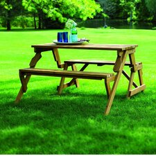 Luxton Convertible Wood Picnic Table & Garden Bench