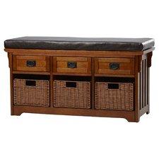 Hemlock Wooden Entryway Storage Bench