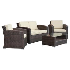 Truchas 4 Piece Deep Seating Group with Cushions