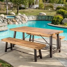 Troy 3 Piece Wood Picnic Table
