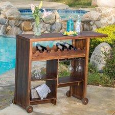 Valier Outdoor Wood Bar Cart