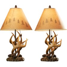 "Littleton 24"" H Table Lamp with Empire Shade (Set of 2)"
