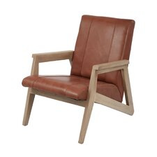 Yellow Pine Leather Armchair