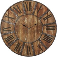 "Oversized 23"" Printed Wall Clock"