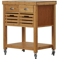 Beartown Kitchen Cart with Stainless Steel Top