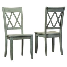 Castle Pines Side Chair in Antique Green (Set of 2)