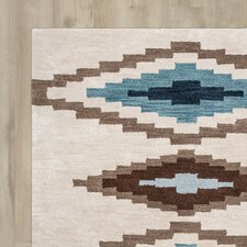 Upper St. Vrain Hand-Tufted Beige Area Rug