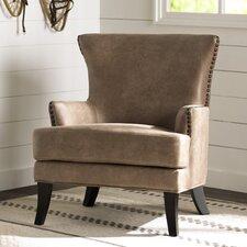 Vinita Faux Leather Arm Chair