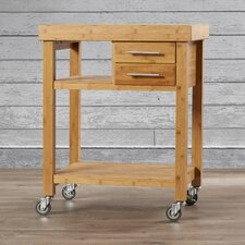 Powderhorn Kitchen Cart with Bamboo Top