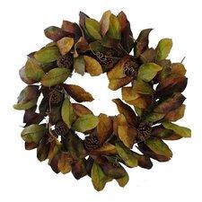 """32"""" Magnolia Leaf Wreath"""