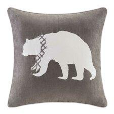 Apikuni Embroidered Suede Throw Pillow