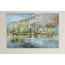 Autumn Reflection Landscape Art Paint of Painting on Canvas