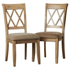 Castle Pines Side Chair in Antique White (Set of 2)
