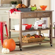 Eldorado Springs Kitchen Island with Stainless Steel Top