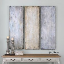 Textured Trio Abstract 3 Piece Original Painting on Canvas Set