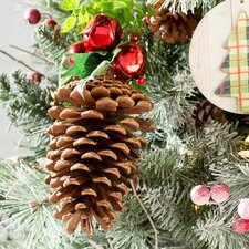 Pinecone Ornament with Bells