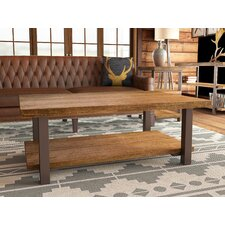 "Somers 48""W Reclaimed Wood/Metal Coffee Table"